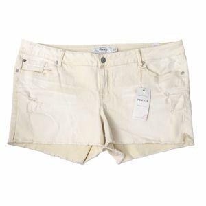 NWT Torrid Distressed High Rise Shorts